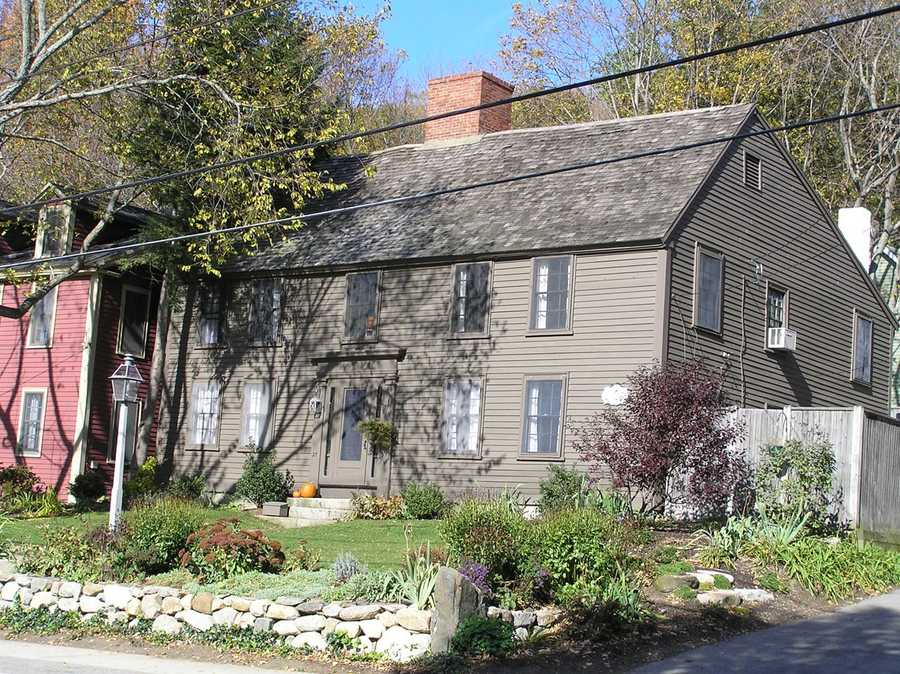 """The Edward Brown House at 27 High Street is recorded as having been built in 1650, making it one of the oldest houses in New England. In 1760 the roofline was raised. The kitchen fireplace and oven were added in 1837. The original """"hall"""" fireplace and summer beam remain intact.Read more at Historic Ipswich. All photos courtesy Gordon Harris, Town Historian.  Read his blog on Ipswich historic homes."""
