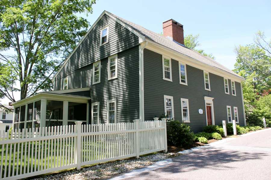 Built in 1665, the John Kendrick House at 3 Hovey St. in Ipswich was the winner of the 2002 Mary P. Conley award.Read more at Historic Ipswich. All photos courtesy Gordon Harris, Town Historian.  Read his blog on Ipswich historic homes.