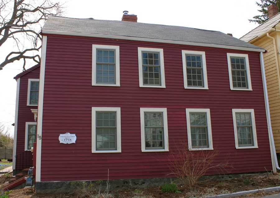 """Jonathan Pulcifer built this house in 1718 at 15 Summer Street, one of the """"oldest ways"""" in Ipswich.Read more at Historic Ipswich. All photos courtesy Gordon Harris, Town Historian.  Read his blog on Ipswich historic homes."""