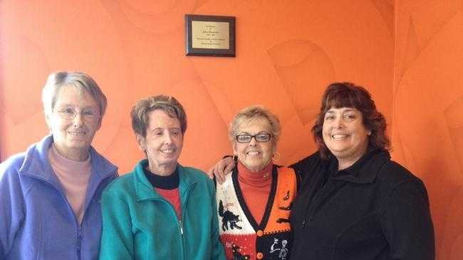 Scleroderma survivors from left, Sue Camara, Diane Moreira, Arlene Furtado, and Donna Bernier, speak about their rare condition