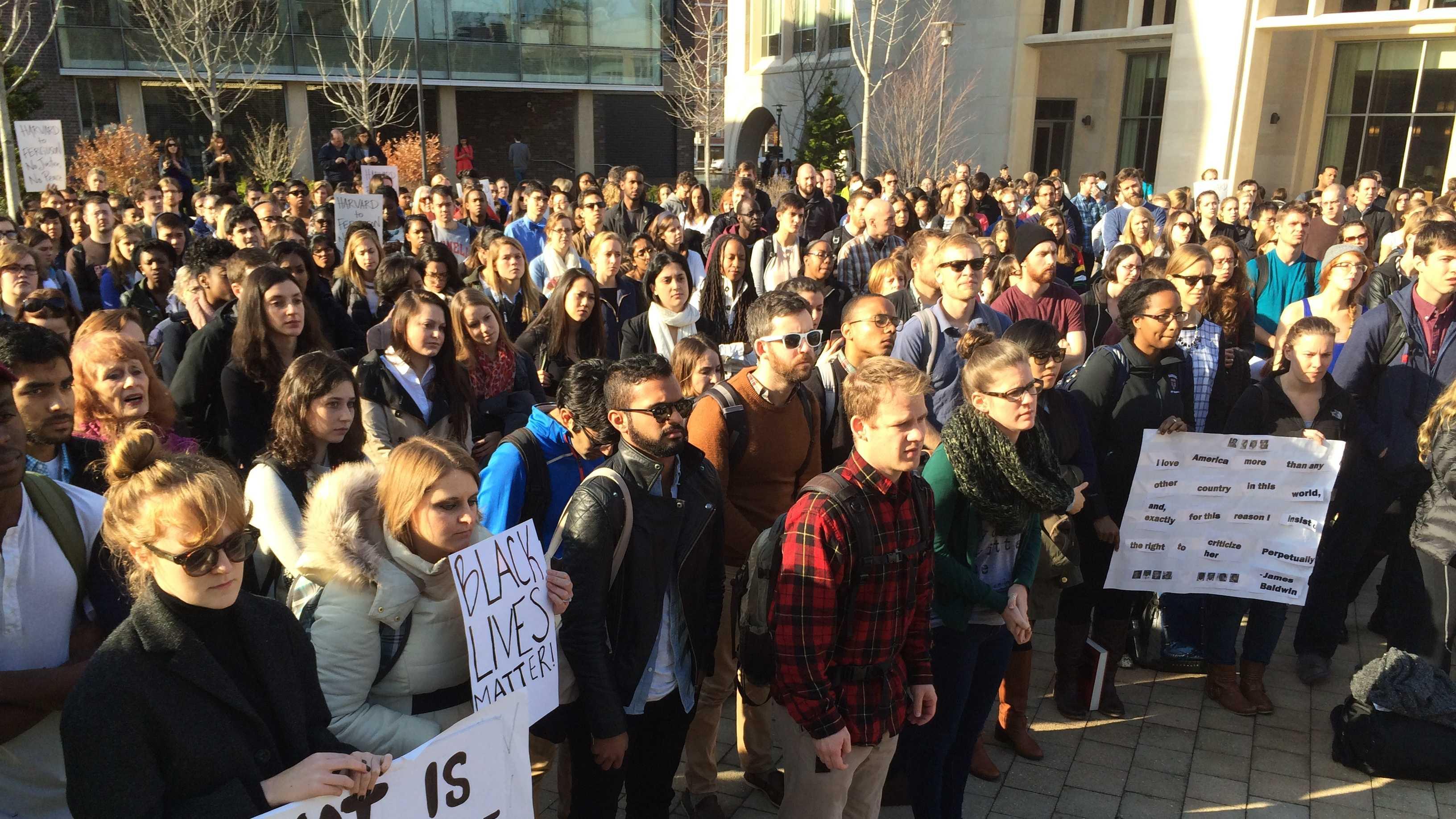 Harvard Ferguson protest