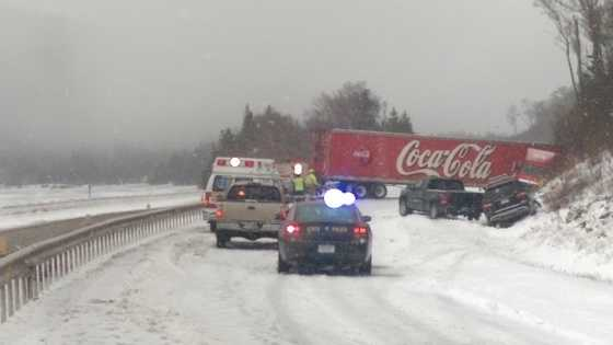 NH State Police believe winter weather caused the driver to lose control in Franconia Saturday morning.