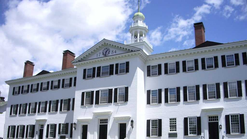 9. Dartmouth College (New Hampshire)Dartmouth College is ranked 10 in Kiplinger's list of Best Values in Private Colleges and is ranked 23 among all colleges.