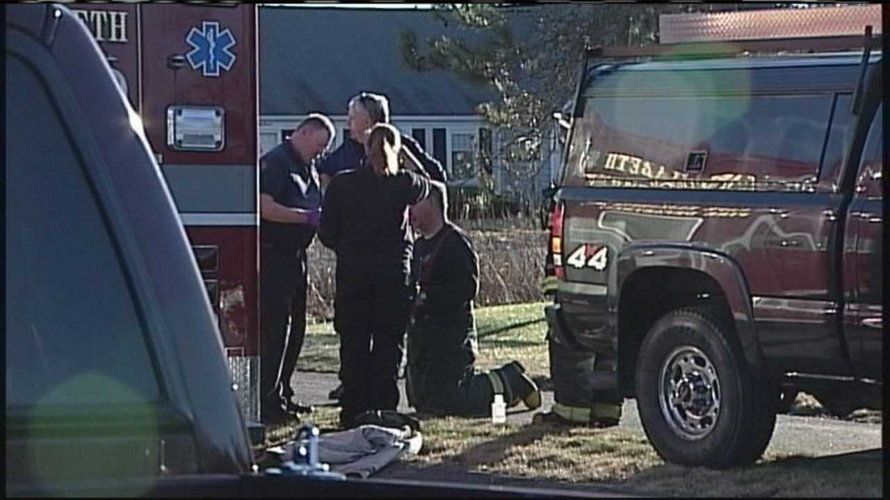 Officials say a woman died in a fire in Cape Elizabeth Friday afternoon.