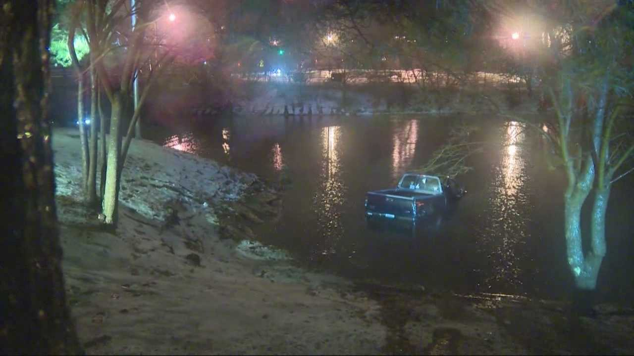 A man is facing charges Sunday after leading police on a car chase that ended in the Malden River.