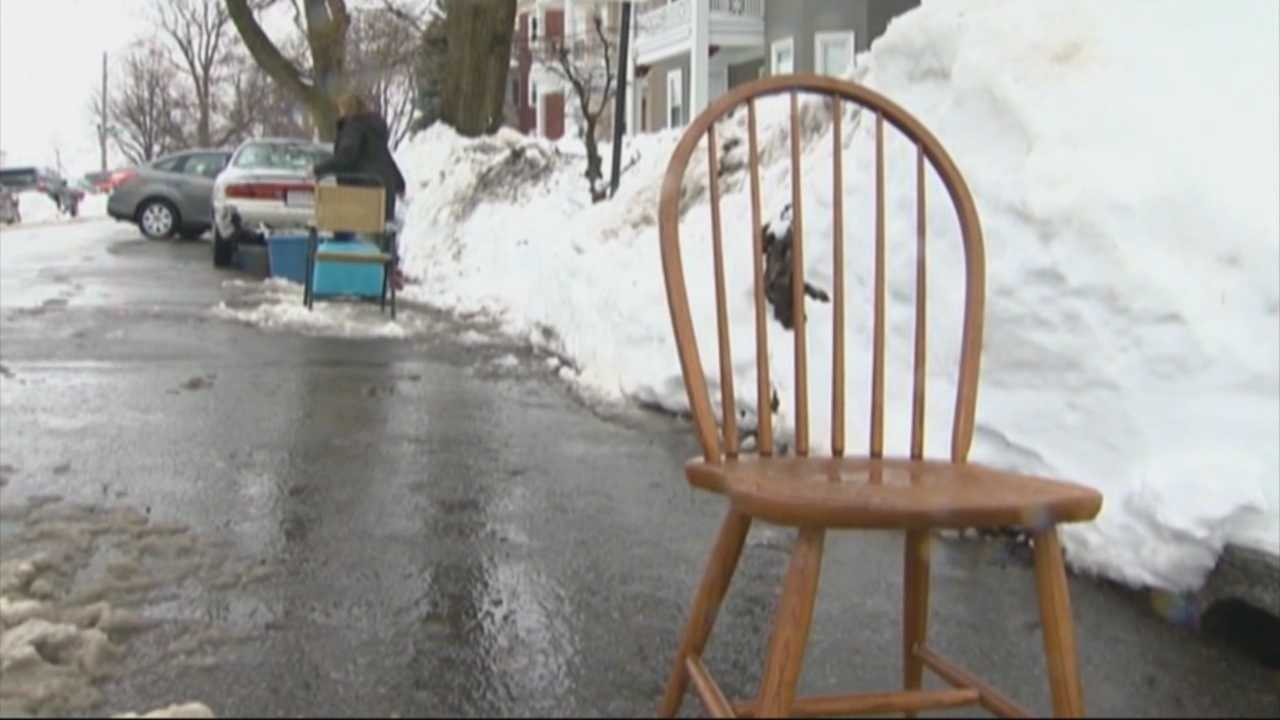 In a city with tight parking, a Boston neighborhood takes a stand against space savers.