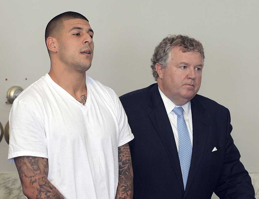 The 25-year-old was a star player with the Patriots with a $40 million contract when, prosecutors say, he killed Lloyd.