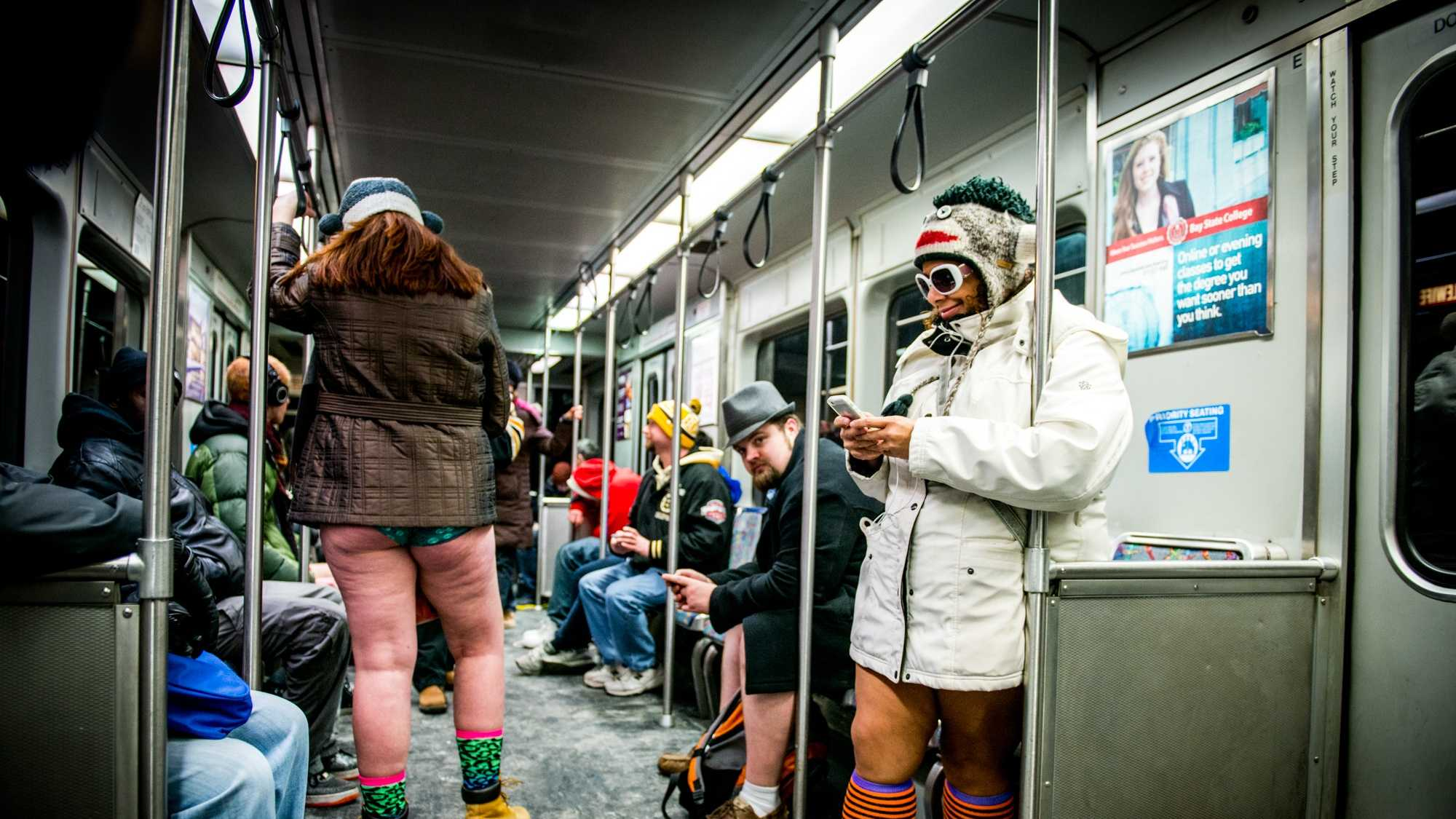 The 14th annual No Pants Subway ride was held over the weekend.  All photos courtesy: Alyssa Greenberg / Via alyssagreenbergphotography.com