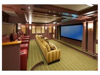 Lower level includes home theater & playroom