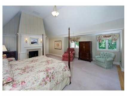 A luxurious master bedroom suite.
