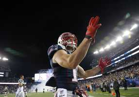 He returned with the Patriots' Week 10 game against the Indianapolis Colts, where he scored his first official NFL touchdown on a 9-yard reception from Brady.