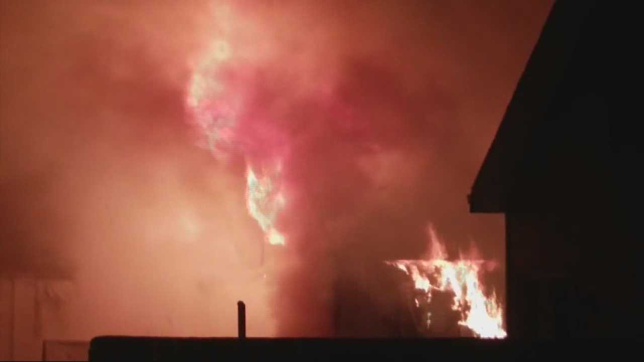 12 people left homeless after fire.