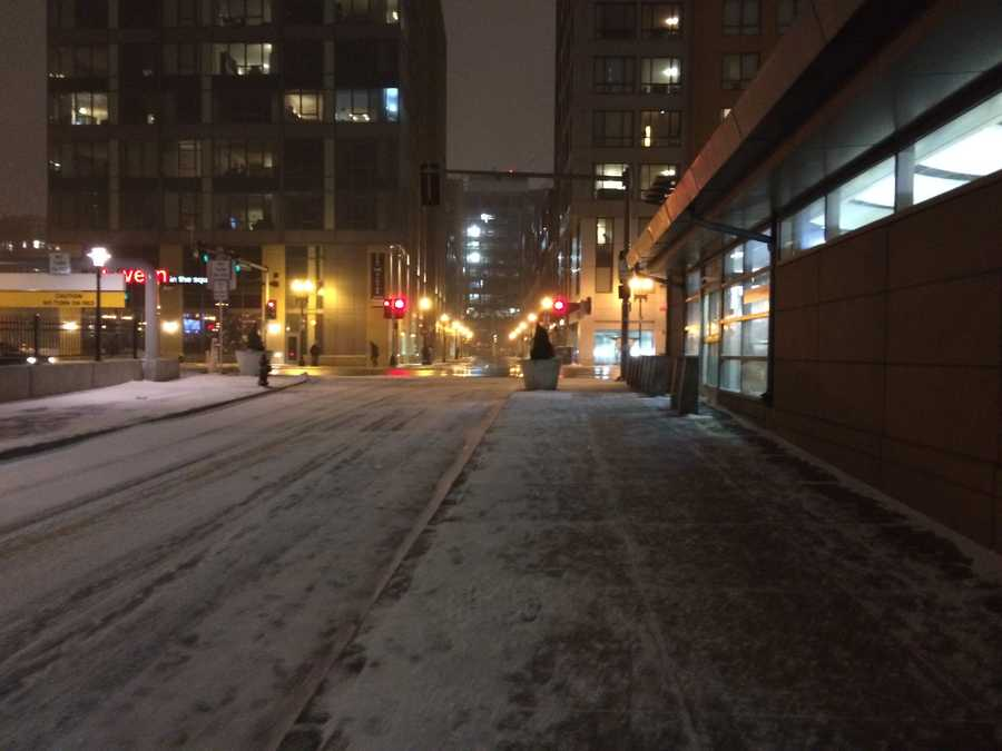 A snow emergency was declared in the city of Boston on Monday, January 26, 2015.