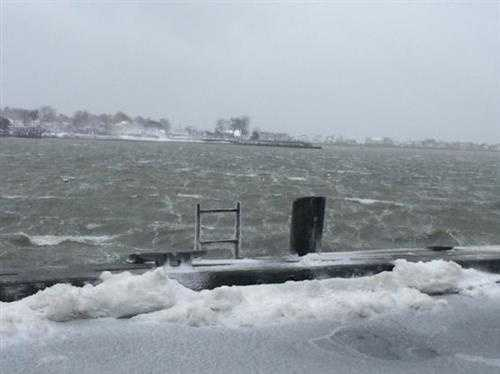 It is blowing like crazy in Scituate Harbor. Had to steady myself against car to snap pic. That woke me up!