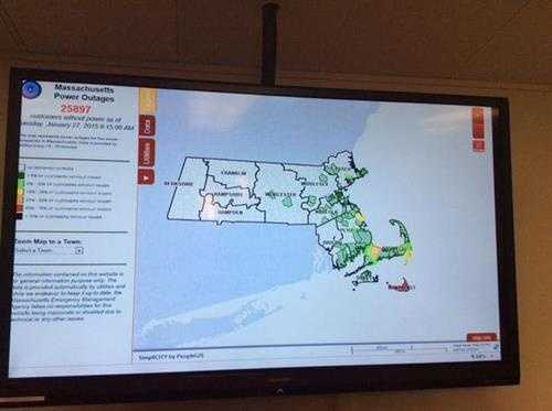 MEMA power outage numbers stabilizing but concerned Nantucket: no power, no cell service, no ferry