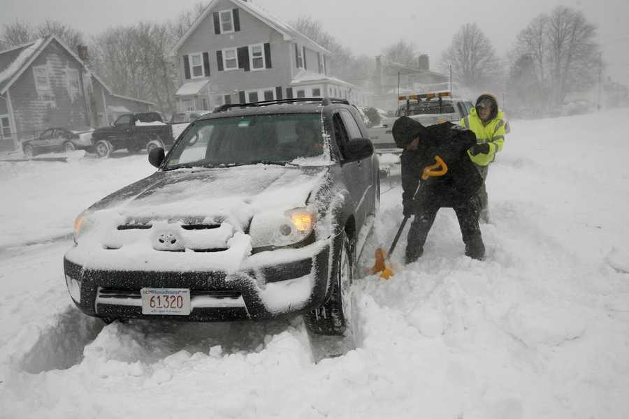 Drifting and blowing snow created problems for drivers in Marshfield on Tuesday, January 27, 2015.