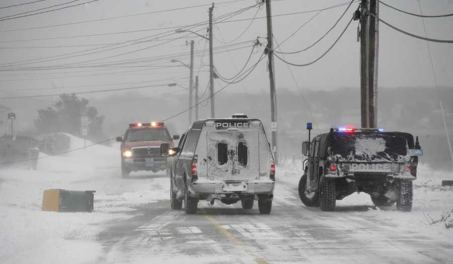 Travel in Scituate was nearly impossible during the blizzard on Tuesday, January 27, 2015.