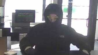 Suspected Bank Robber Stopped by Snowbank