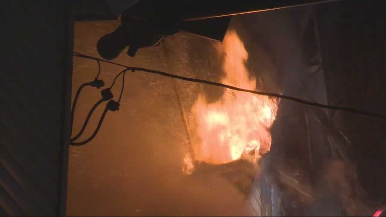 A fire in a multi-family home on Hitchborn Street leaves many homeless.