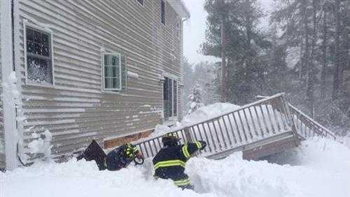 A deck collapsed in Norwell.