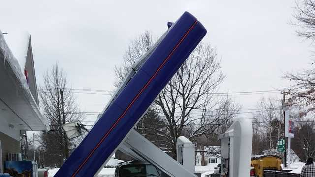 A gas station canopy collapsed in Conway on Thursday. No one was injured.