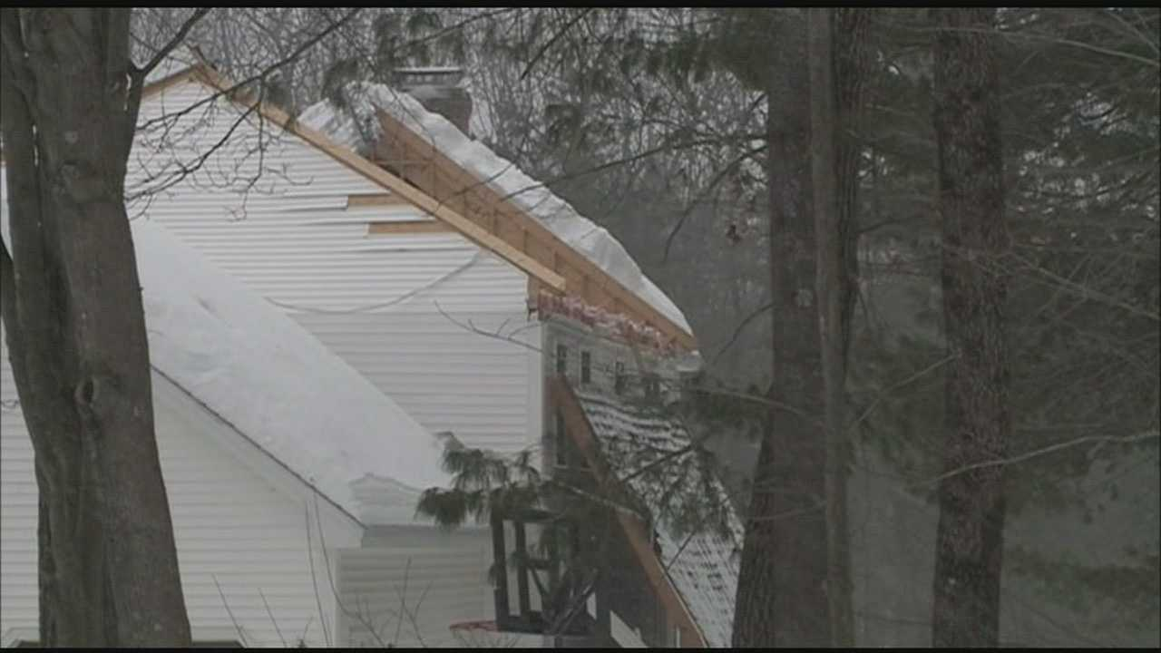 Concord fire officials are investigating what caused the roof of a house to completely slide off Saturday afternoon.