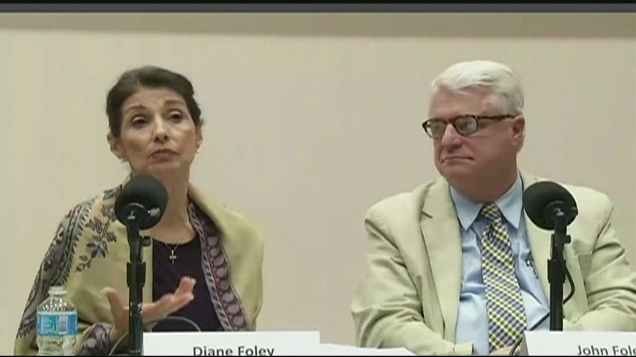 James Foley's parents, Diane and John.