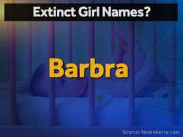 Singer Barbra Streisand made her unusually-spelled shortened name famous in the 1960. Barbara, a Top 10 name for three decades, hangs on in the Top 1000, but Barbra is about to vanish.