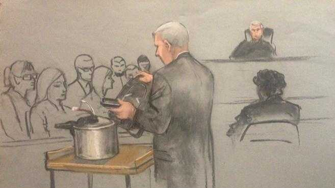 FBI bomb expert Edward Knapp displayed the models Thursday in Tsarnaev's federal death penalty trial.