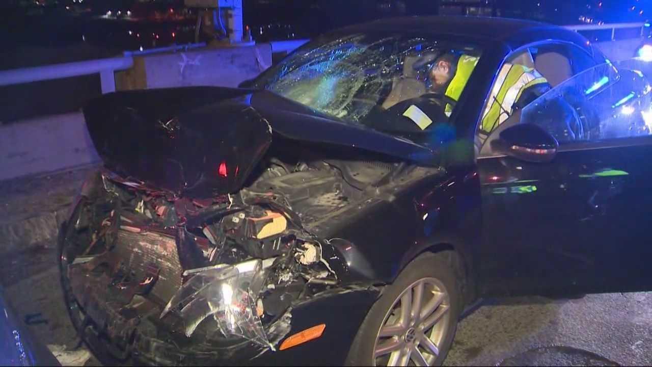 A three-car crash on the MassPike has killed one person.