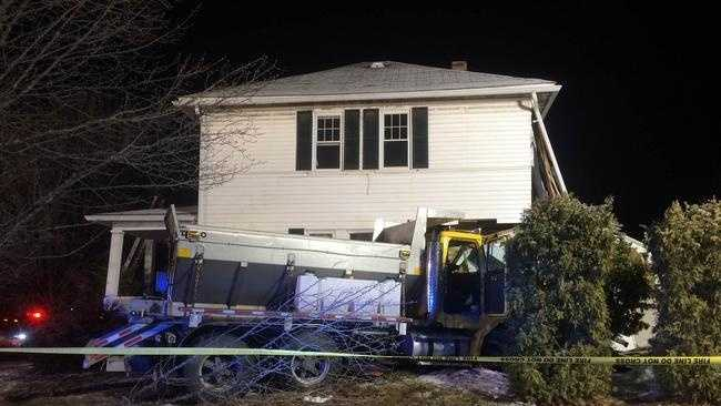 A DPW sander crashed into this house in Framingham, located at 205 Bishop St.