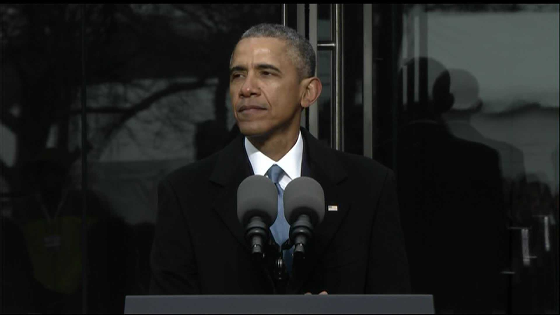 President Obama speaks at the dedication of the Kennedy Senate Institute on March 30, 2015