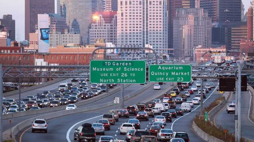 Boston took the 16th spot in TomTom's study's ranking of the most traffic congested U.S. cities with an overall congestion level of 24%.