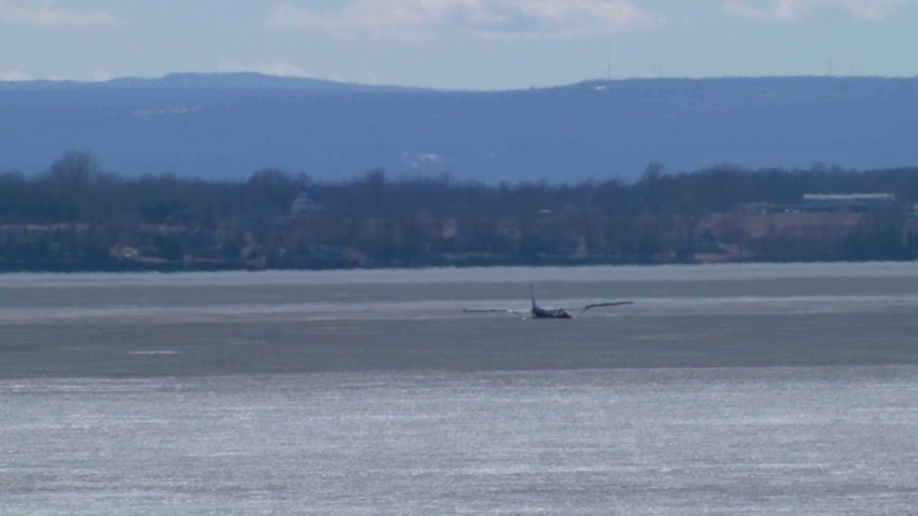A small plane crashed into Lake Champlain Saturday afternoon.