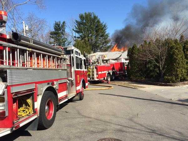 Firefighters in Newton are responding to a reported house explosion.