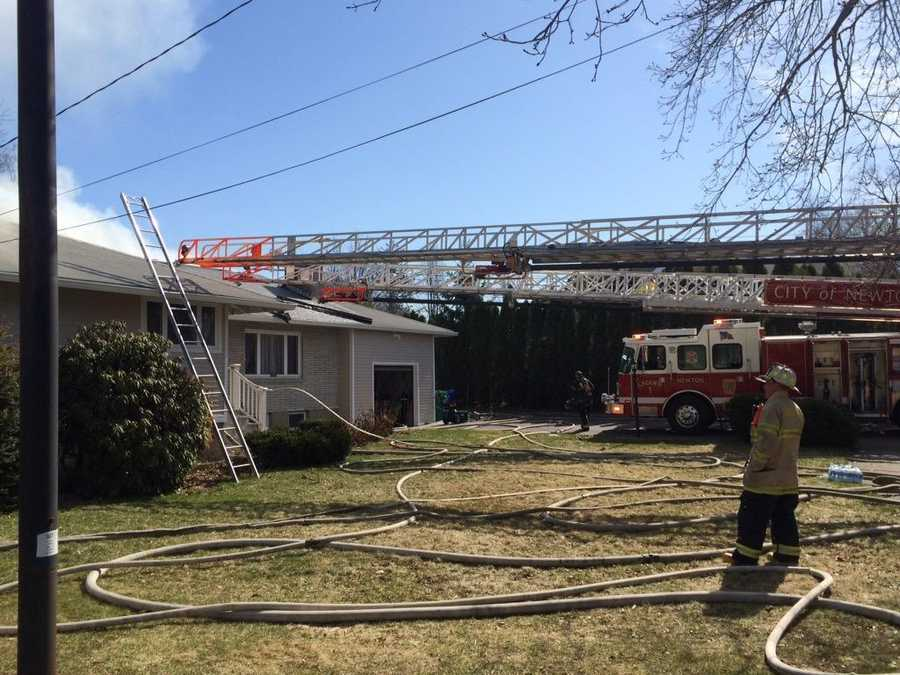 The incident happened just before 10 a.m. at 15 Placid Road, firefighters said.