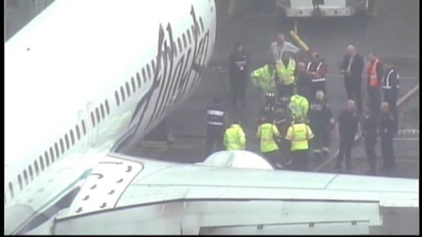 A Los Angeles-bound Alaska Airlines flight had to return to Seattle on Monday after a worker reportedly fell asleep and found himself trapped in the plane's cargo hold.