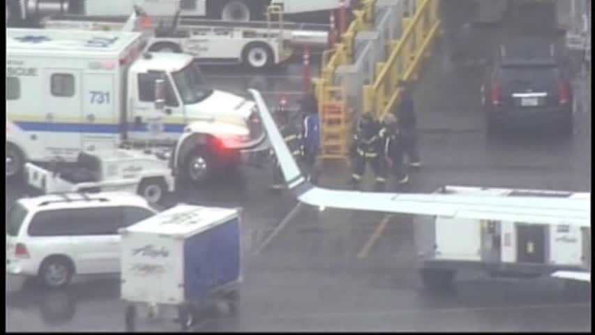 """After the plane landed a ramp agent came out from the front cargo hold, which Alaska says is pressurized and temperature-controlled.""""Upon exiting, he told authorities he had fallen asleep,"""" the airline said.The worker, an employee of Menzies Aviation, walked off the plane and appeared OK, but was taken to a hospital as a precaution."""