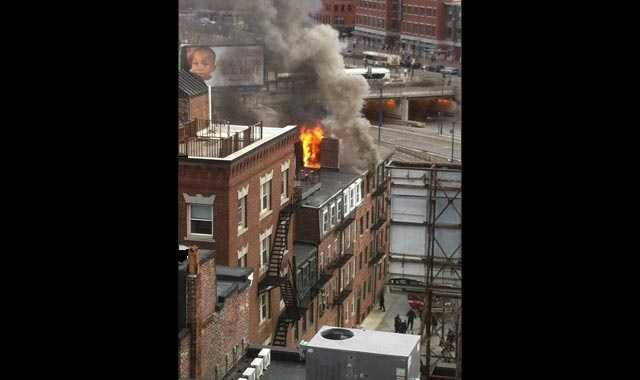 A fire broke out in the North End on Tuesday afternoon.