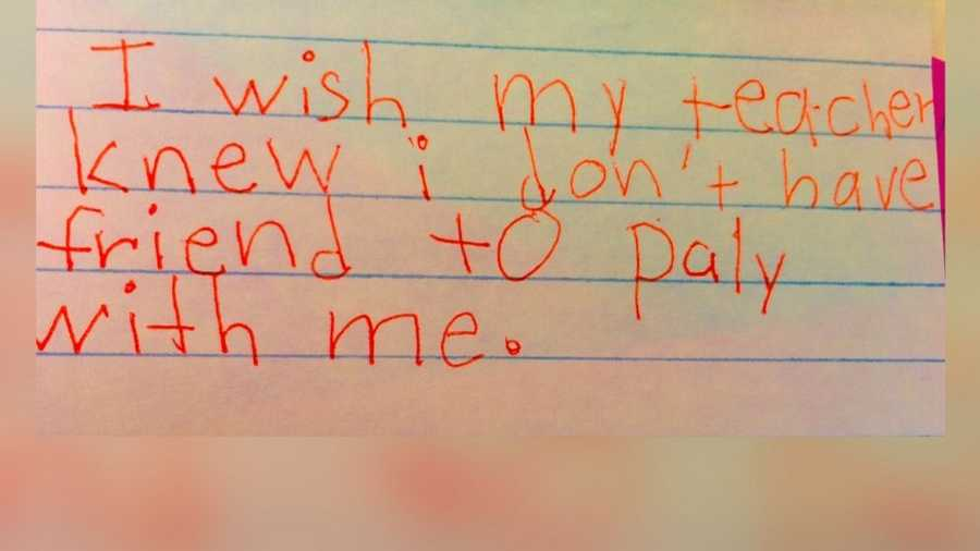"""A teacher in Denver created an assignment called """"I Wish My Teacher Knew"""" in order to better understand them."""