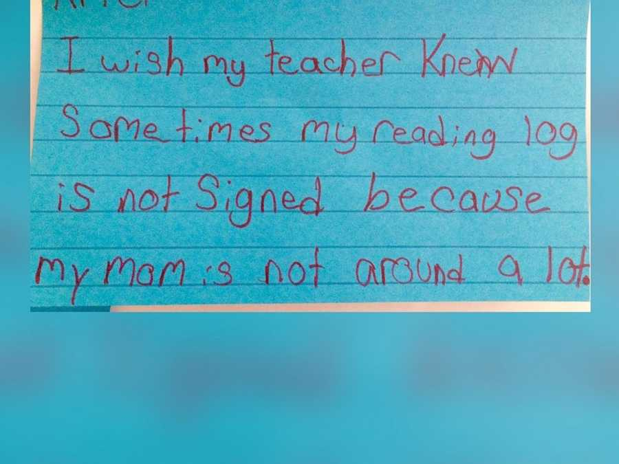 Schwartz said she was blown away by the response and posted them on Twitter with #IWishMyTeacherKnew