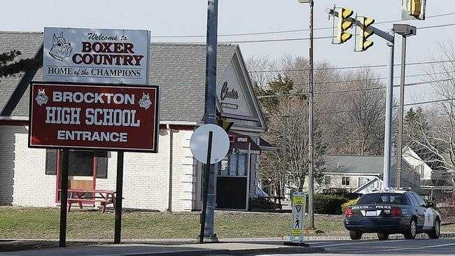 Brockton High School closed Monday April 13, 2015 after receiving a bomb threat.