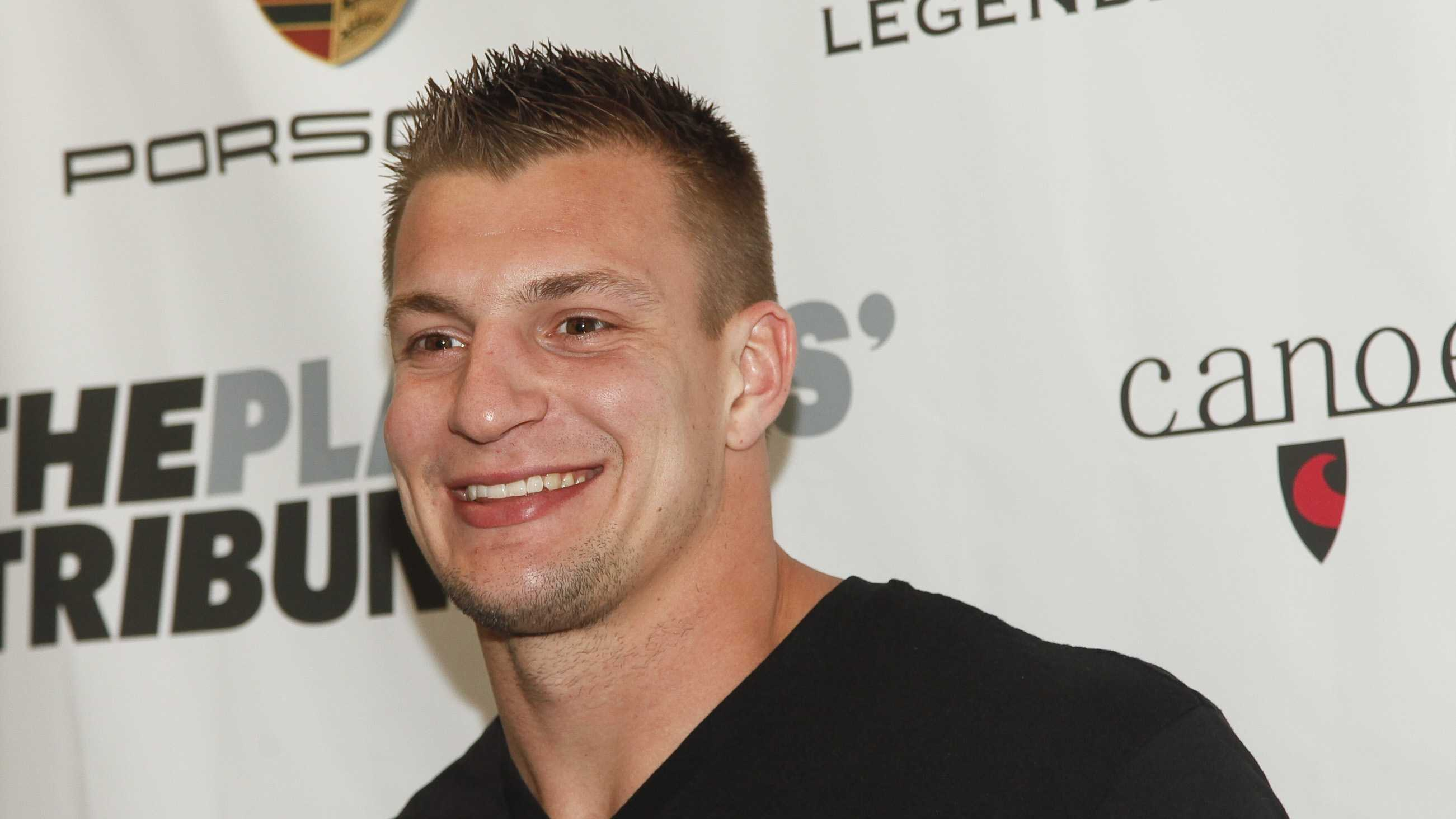 Rob Gronkowski attends The Player's Tribune official launch party at Canoe Studios on Saturday, Feb. 14, 2015, in New York.