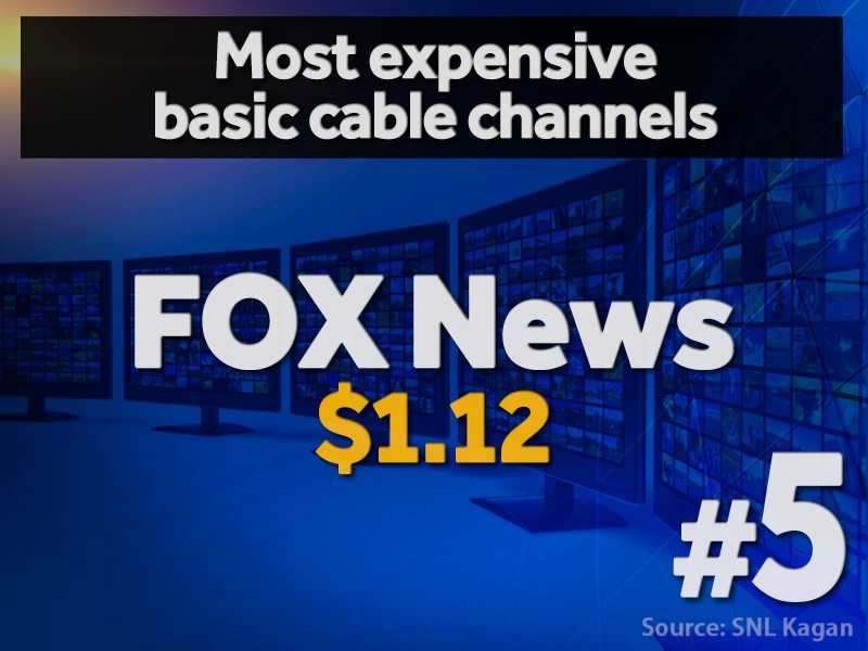 5. FOX News - $1.12 per cable subscriber (estimated)