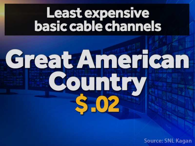Here is a breakdown of the six cheapest cable channels per subscriber based on estimates from SNL Kagan.