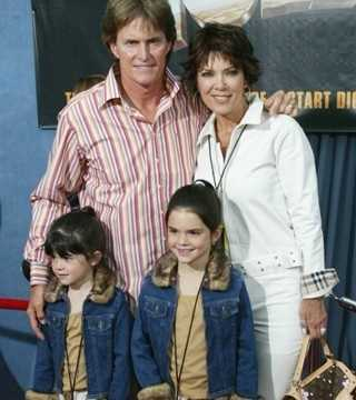 Bruce and Kris had two children together -- Kylie and Kendall.