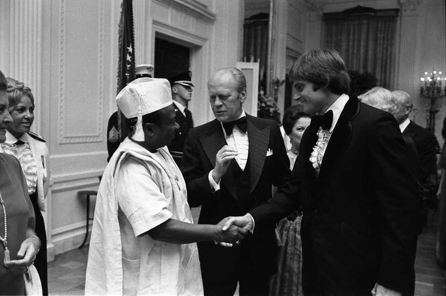 He became a spokesman for Wheaties and appeared on TV and in films. He's pictured here at the White House with President Gerald Ford and Liberian President William Tolbert.