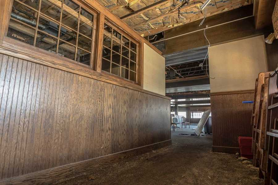 Before demolition Monday, photographer Brian Cummings got a look inside the once famous Hillside Restaurant.  See more photos on Brian's Facebook page.