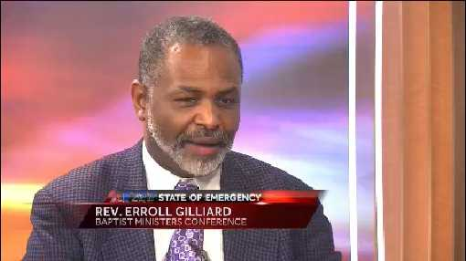 Rev. Erroll Gilliard with the Baptist Ministers Conference, spoke about the riots in Baltimore.