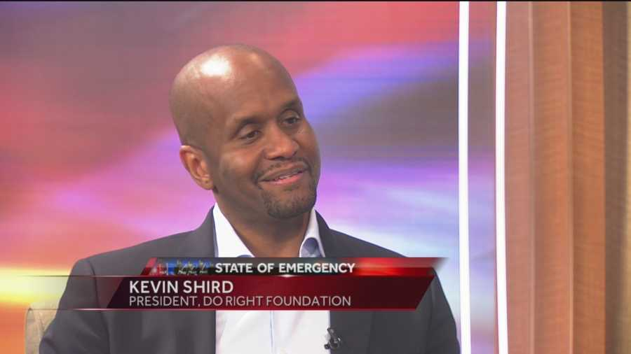 National youth advocate Kevin Shird, president of Do Right Foundation, spoke about the unrest in Baltimore and the impact youth has.